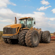Stock Photo: Tractor processes field