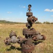Filled up wellhead — Stock Photo