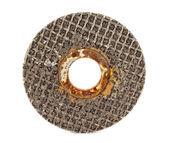 Old abrasive disk — Stock Photo