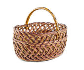 Empty wicker basket — Stock Photo