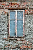 Old dirty window — Stock Photo
