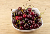 Cherry in a dish — Stock Photo