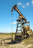 Arbete av oljepump — Stockfoto