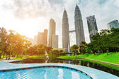 Downtown of Kuala Lumpur in KLCC district — Photo