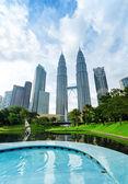 Downtown of Kuala Lumpur in KLCC district — Stock Photo