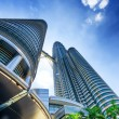 Downtown of Kuala Lumpur in KLCC district - Stock Photo