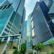 skyscrapers in financial district of singapore — Stock Photo #18469893