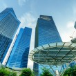 Skyscrapers in financial district of Singapore — Stock Photo #18469957