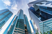 Skyscrapers in financial district of Singapore — Fotografia Stock