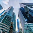 Skyscrapers in financial district of Singapore — Stock Photo #19946737