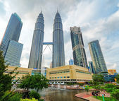 Downtown of Kuala Lumpur in KLCC district — Stockfoto