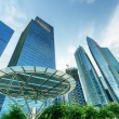 Skyscrapers in financial district of Singapore — Stock Photo #20497433