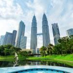 Downtown of Kuala Lumpur in KLCC district — Stock Photo #21067849