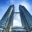 Stock Photo: downtown of kuala lumpur in klcc district