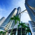 Downtown of Kuala Lumpur in KLCC district — Stock Photo #21298595