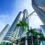 Downtown of Kuala Lumpur in KLCC district — Stock Photo #22200837