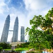 Downtown of Kuala Lumpur in KLCC district — Stock Photo