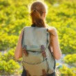 Young woman hiking with backpack — Stock Photo #25652241