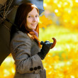 Young woman in autumn park. — Stock Photo #27219039