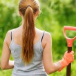 Woman working in the garden — Stock Photo