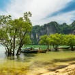 Stock Photo: Traditional thai boats. Krabi province, Thailand
