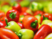 Fresh sweet peppers. Vegetable background — Stock Photo