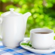 Cup of tea on nature background — Stock Photo #31109871