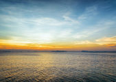 Sea and sky at sunset. Beautiful landscape — Foto de Stock