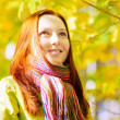 Young woman in autumn park. — Stock Photo #31870943