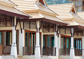 Row of new bungalows in resort — Stock Photo