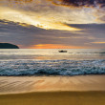 Sky and sea at sunset — Foto de Stock