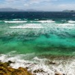 Tropical sea and blue sky — Stock Photo #35103961