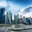 Skyscrapers in financial district of Singapore — Stock Photo #36013683