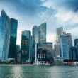 Stock Photo: Skyscrapers in financial district of Singapore