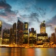 Skyscrapers in financial district of Singapore — Stockfoto