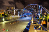 The Helix Bridge in Singapore. — Stock Photo