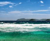 Céu azul e mar tropical — Foto Stock