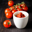 Stock Photo: Ripe tomatoes and tomato paste