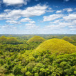 Chocolate hills on Bohol Island, Philippines — Stock Photo