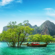 Stock Photo: Boats on Railay beach, Thailand
