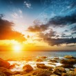 Stock Photo: Amazing sky over the sea. Sunset landscape