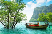 Boats on Railay beach, Thailand — Stock Photo