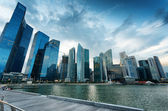 Skyscrapers in financial district of Singapore — Stock Photo
