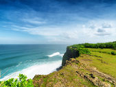 Costa de uluwatu temple, bali, indonesia — Foto de Stock