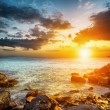 Amazing sky over the sea. Sunset landscape — Stock Photo #39431979