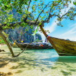 Stock Photo: Boats on PhrNang beach, Thailand