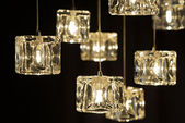 Closeup view of contemporary light fixture — Stock Photo