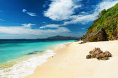 White sand beach. Malcapuya island, Philippines — Foto Stock