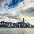 Skyline of Hong Kong at sunset — Stock Photo