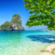 Stockfoto: Clear water and blue sky. PhrNang beach, Thailand